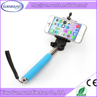2015 Promotional Christmas Gifts Extendable Handheld Z07-1 Foldable Aluminum Selfie Stick For Mobile Phone