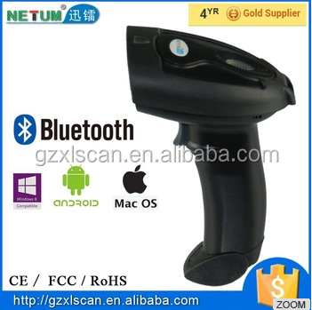Popular Model NT-2015LY Cheap 32bit Bluetooth Wireless Barcode Scanner with RS232 / USB/ PS2