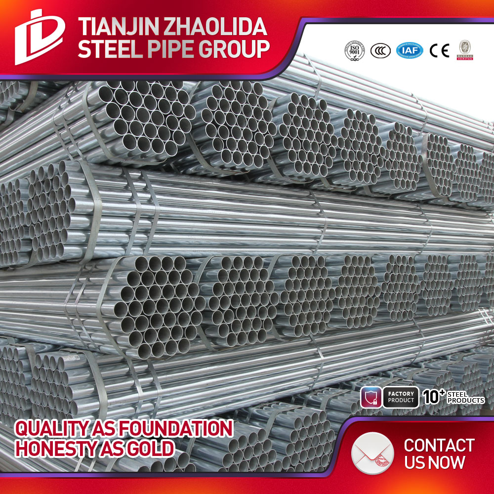 Zhaolida newly produced 4'' threaded galvanized steel pipe in stock price per unit