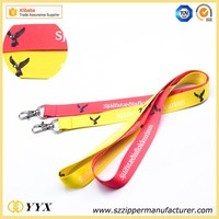 Popular company logo printed lanyard breakaway bling lanyards for fair