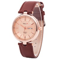 hot sale Japan quartz movement genuine leather band TADA brand 3ATM waterproof watches