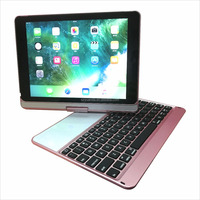 "UltraThin Keyboard and Stand Combo Backlight Bluetooth Keyboards Rechargeable for 9.7"" new ipad air 2 Pink"