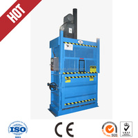 for hard rubber/plastic/pet bottle/hay/fiber items Vertical hydraulic balers