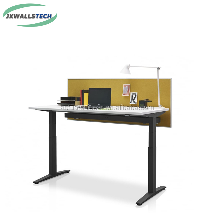 dual motors <strong>3</strong> segments electric lifting column linear actuator height adjustable desk frame