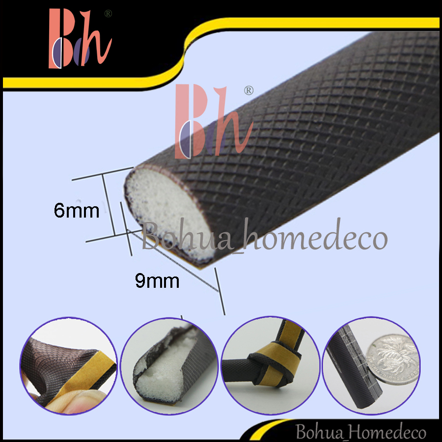 Self Adhesive PU Foam Tape Cladding D Type Flexible Door Window Sealed Sealing Strip Anti Collision Sound Proof Weatherstrip