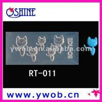 3D nail art molds with cat designs/3D nail art mold