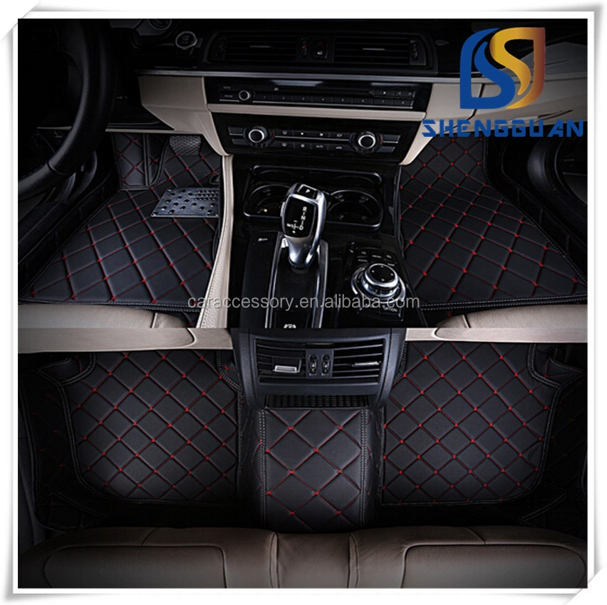 China Carpet Factory Car Floor Linger 5D Leather Car Mat High Quality