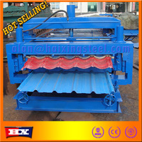 building materials rolling machine,double layer forming roll line,double deck production equipmenth tile cutter
