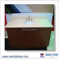 Custom precut kitchen countertop/hot sale countertop white pearl granite/latest countertop display