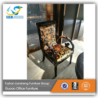 Beautiful decorative pattern popular design antique reproduction french furniture fabric wooden dining chairs