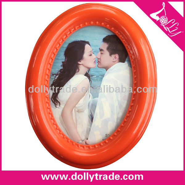 Oval Shape Plastic Photo Picture Frame For Wedding Favor