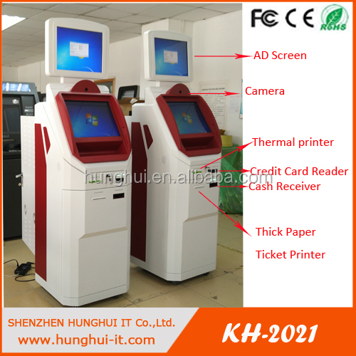 bank atm machine/hotel check in and out lobby kiosk/all in one self service payment kiosk