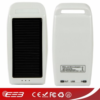 1000mah solar power bank charger with hook has CE