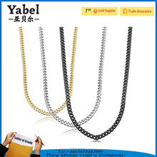 Different Types of Stainless Steel Long Link Necklace Chains Jewelry
