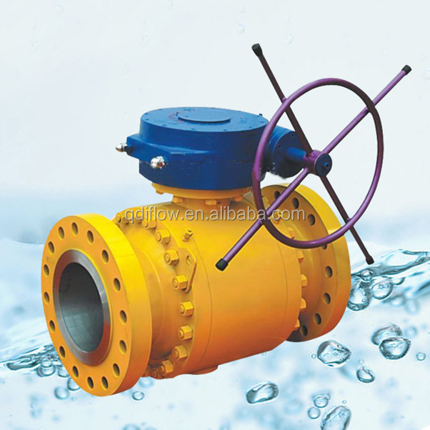 Trunnion Mounted Carbon Steel Ball Valve with Gear Operation