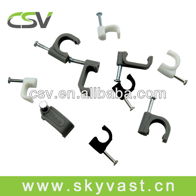 Electric wiring accessories concrete nail cable clip