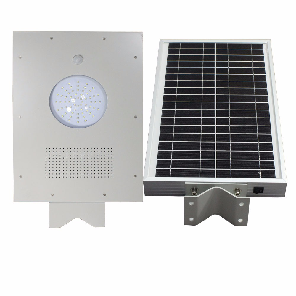Free Maintain 20w Solar Auto-sensing Motion Sensor All in one LED Street Light Price