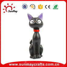 Custom wholesale resin black cat statue for home deocration
