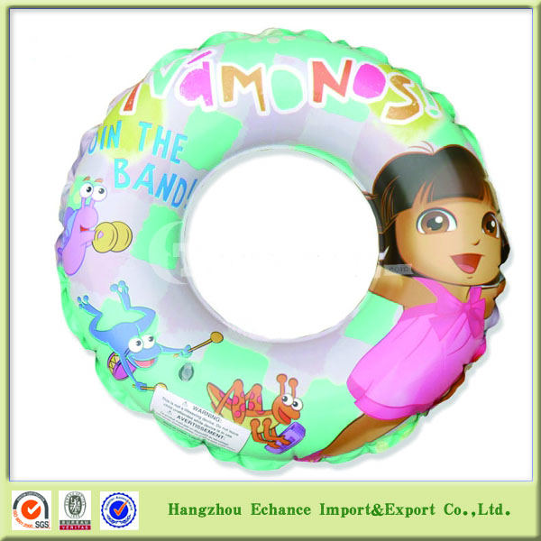OEM printing PVC inflatable swim ring high quality EN71 certified
