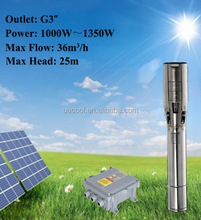 Quality DC 72V deep well Submersible solar water pump for agriculture