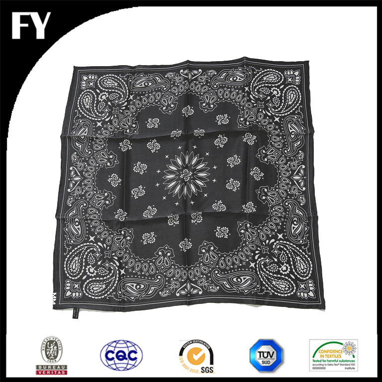 mens printed handkerchief in cotton voile