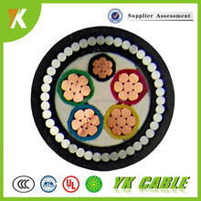 Steel wire armoured Stranded 5 core 4mm2 6mm2 10mm2 PVC Cable