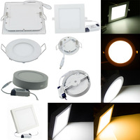 SMD2835 CE RoHS small led ceiling light 12w round led panel light surface mounted