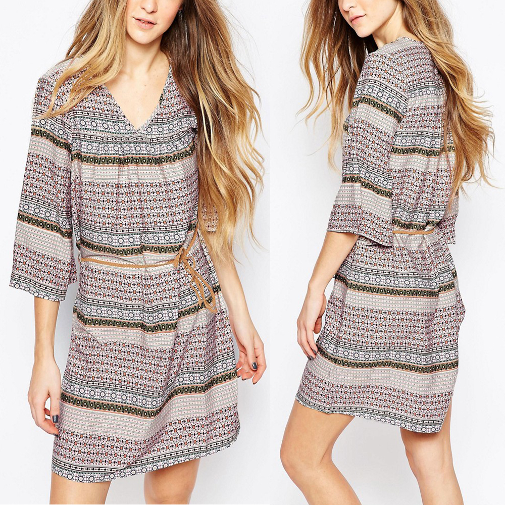Verified apparel suppliers plaid banded plus size woman casual bandage dress