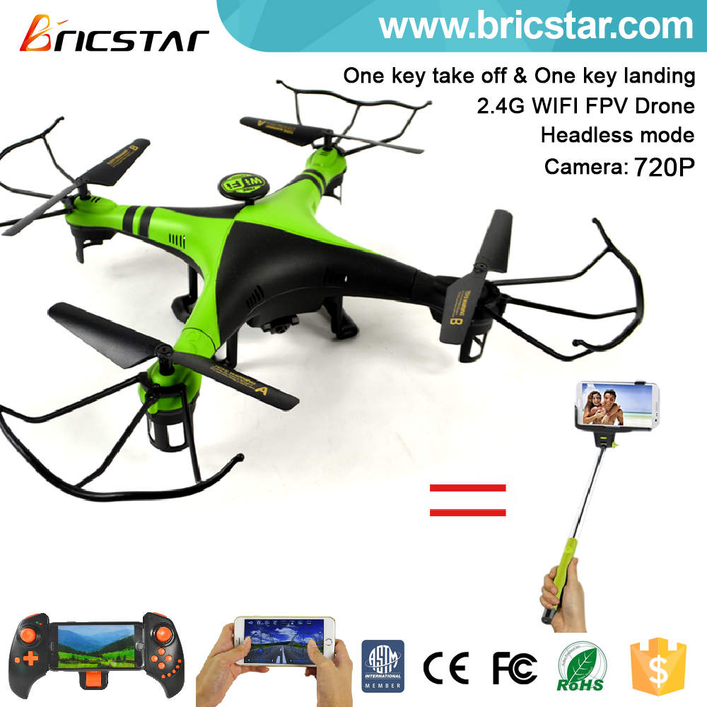 Mobile phone control digital video transmitter FPV rc racing drone quadcopter with 720P 120 degree wide angle wifi camera