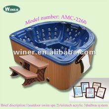 Romantic outdoor hot spa tub fiberglass tubs sexy family spa tub