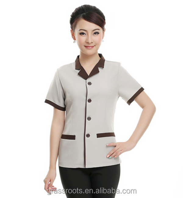 Customized Hotel Staff Cotton Housekeeper Uniform