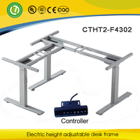 L shape or 3 feet electrical adjustable frame desk for office & conference table