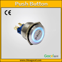 22mm led ring illuminated light switch,latching button,12V electrical push button GQ22-11E