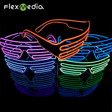 2018 Best High Brightness Colourful El Wire Equalizer Sunglasses