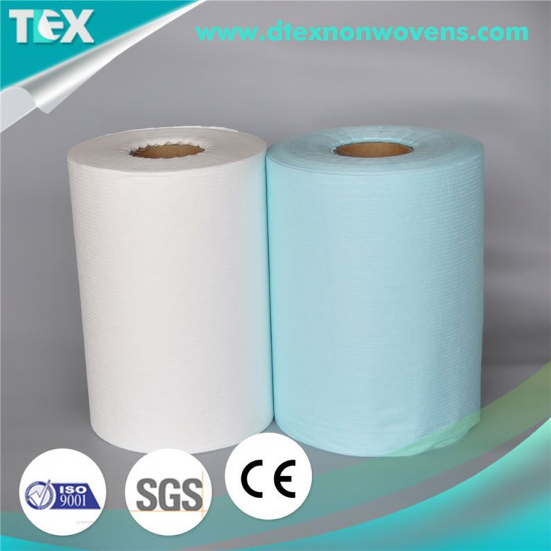 China Supplier Low Lint Nonwoven Industrial Blue Wipe Paper