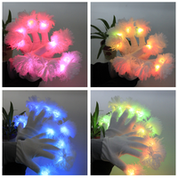 2016 concert party flashing knitting light up shinning magic LED gloves