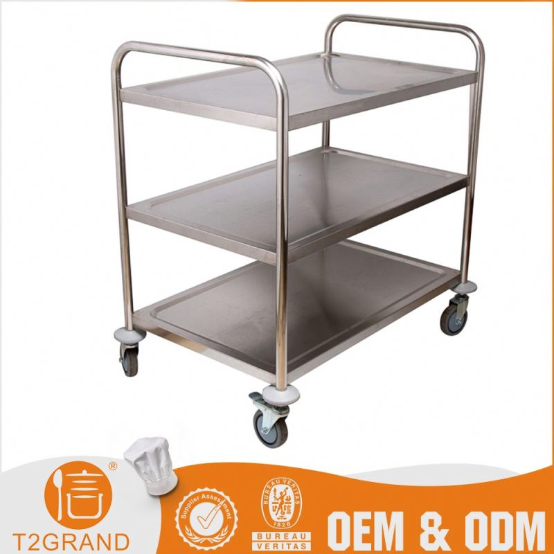 Wholesale Price Oem Service Stainless Steel Food Catering Trolley Cooking Mobile Food Carts For Sale
