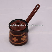 9-12cm 4pcs cookware coffee maker & warmer copper turkish coffee pot with cover enamel coffee pot