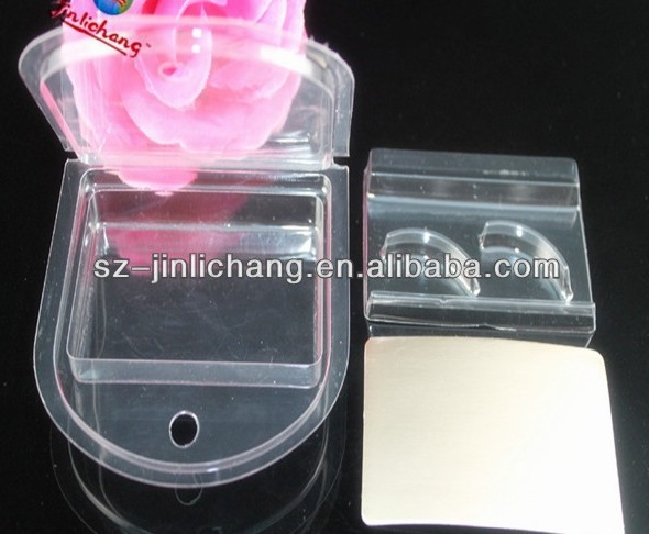 custom clear plastic false eyelash packaging box