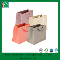 2016 kraft printed gift bags with handle