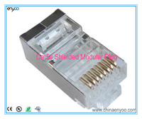 RJ45 Shielded Modular Plugs/Connectors for Solid and stranded Wire