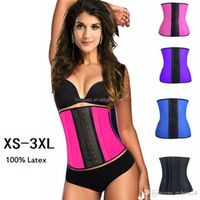 2015 cheap sexy www xxx com photos latex rubber waist trainer corset 3xl size black color
