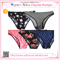 10 different printing pattern fashion ladies underwear panties in stock