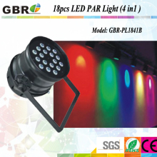 18pcs rgbw led par light stage light