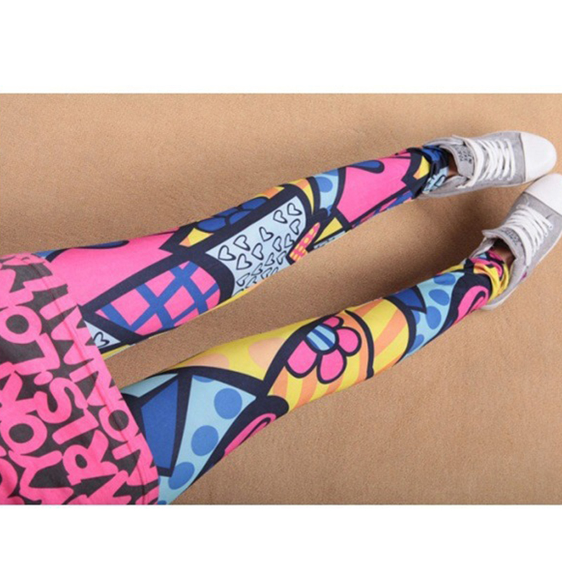 <strong>A033</strong> 2017 fashion spring new arrived Love printing women leggings