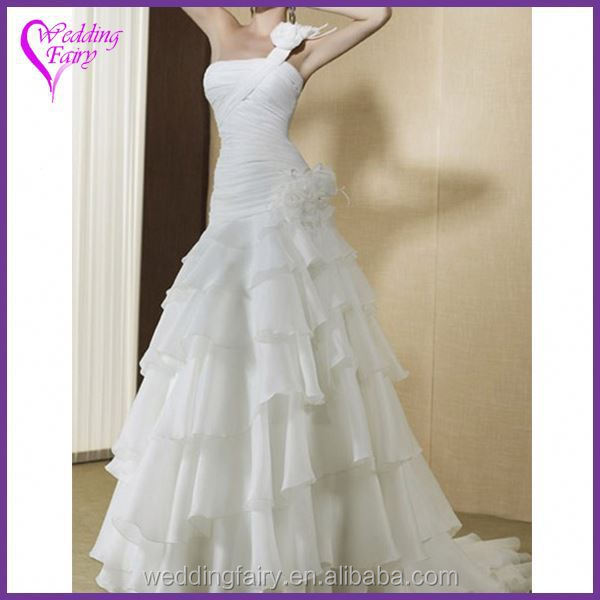 Best selling custom design champagne plus size wedding dress with good price