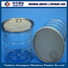 1400ml custom made PET clear cans 1400g 49oz food packaging plastic cans