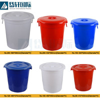 China factory wholesale 5 gallon white plastic buckets with lid