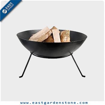 Western style stainless steel outdoor fire pits for garden