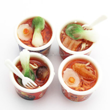 Arificial Mini Rice Keychain Fake Noodles Simulation Fruits PVC Vegetables Meat Miniature Bowl Model Fridge Magnet